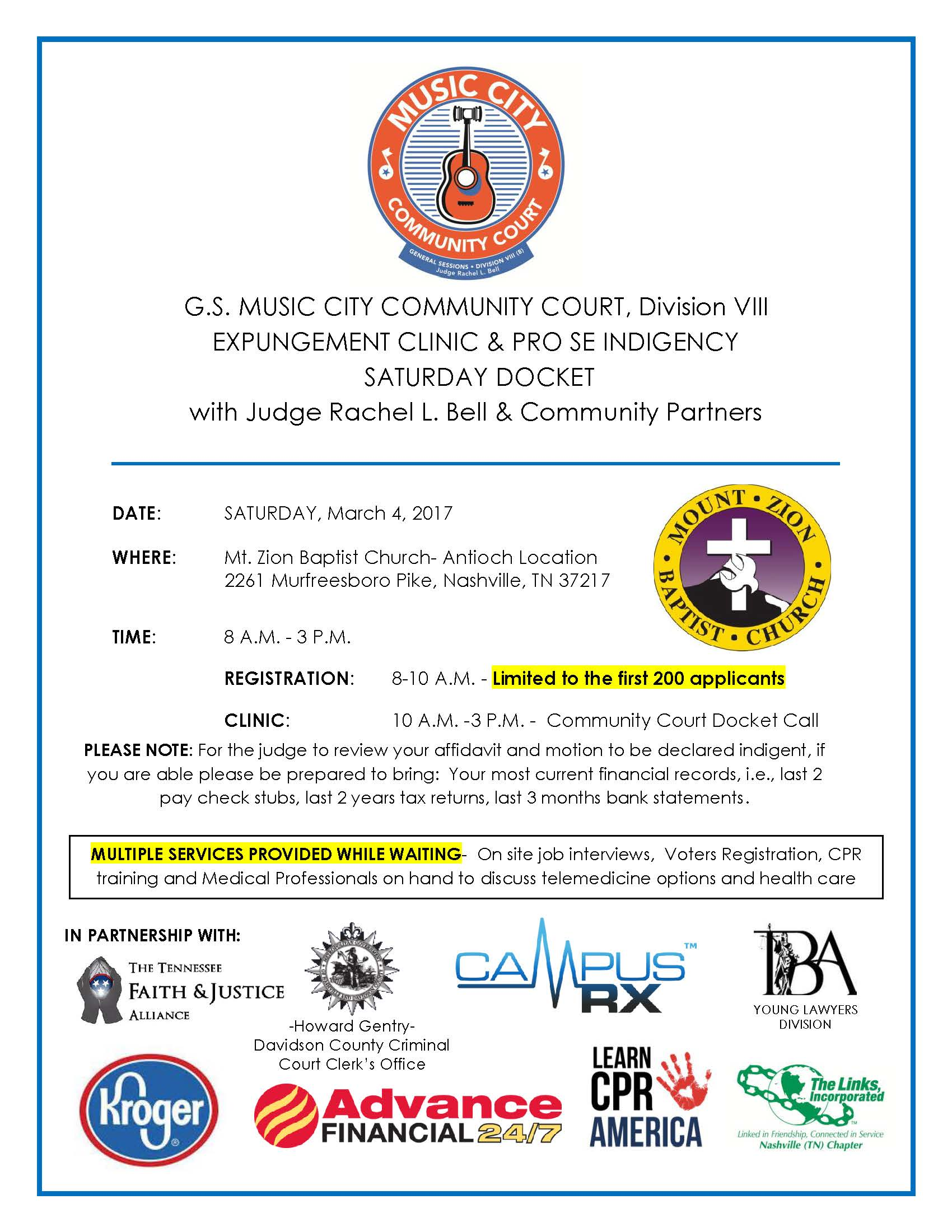 Music City Community Court | General Sessions Court of